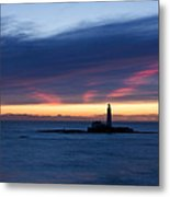 St Marys Lighthouse Sunrise Metal Print