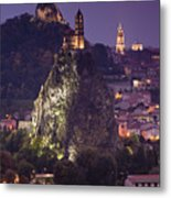 St-michel D'aiguilhe And Cathedrale Notre-dame Metal Print by Walter Bibikow