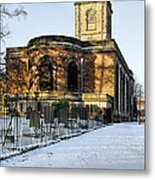 St Modwen's Church - Burton - In The Snow Metal Print