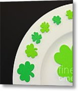 St. Patrick's Day Plate Metal Print