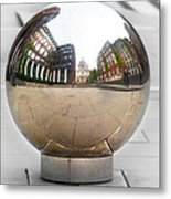 St Paul Cathedrals Reflection Metal Print