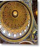 St Peter's Basilica Dome  Metal Print