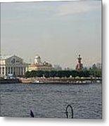 St Petersburg And River Neva - Russia Metal Print