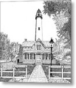 St. Simons Lighthouse Metal Print