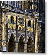 St Vitus Cathedral Entrance Metal Print