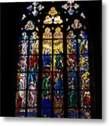 St Vitus Cathedral Stained Glass Metal Print