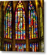 St Vitus Main Altar Stained Glass Metal Print