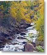 St Vrain Canyon And River Autumn Season Boulder County Colorado Metal Print