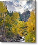 St Vrain Canyon Autumn Colorado View Metal Print