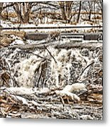 St Vrain River Waterfall   Metal Print