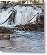 St Vrain River Waterfall Slow Flow Metal Print