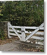 Stable Gate Metal Print