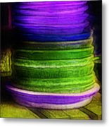 Stack Of Saucers Metal Print