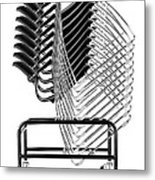 Stacked Chairs Metal Print