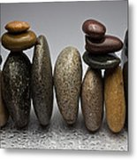 Stacked River Stones Metal Print