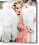 Stage Fright, Marlene Dietrich Wearing Metal Print