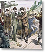 Stagecoach Robbery, 1880s Metal Print by Granger