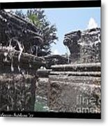 Staggered Tiers Metal Print