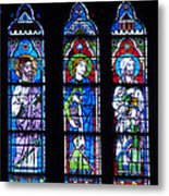 Stain Glass At Notre Dame Cathedral Parus Metal Print