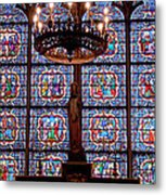 Stained Glass At Notre Dame Cathedral Metal Print