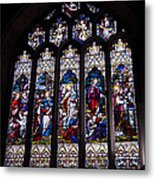 Stained Glass - Bath Abbey Metal Print