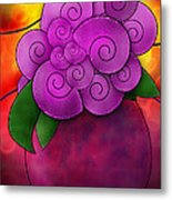 Stained Glass Florals Metal Print by Melisa Meyers