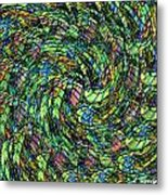 Stained Glass In Abstract Metal Print