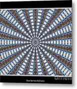 Stained Glass Kaleidoscope 32 Metal Print