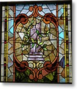 Stained Glass Lc 12 Metal Print by Thomas Woolworth