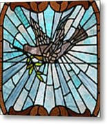 Stained Glass Lc 14 Metal Print