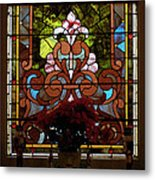 Stained Glass Lc 17 Metal Print