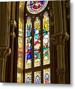 Stained Glass Of St Michaels Basilica Metal Print