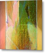 Stained Glass Shower Metal Print