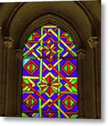 Stained Glass Window In Mezquita Metal Print