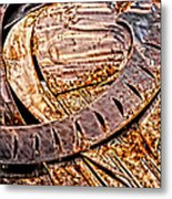 Stainless And Rust Abstract Metal Print