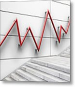 Stair Bannister Shaped Like A Graph Metal Print
