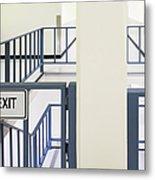 Staircase Railing Metal Print by Andersen Ross