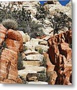 Staircase Stones Metal Print