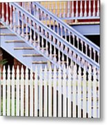 Stairs And White Picket Fence Metal Print