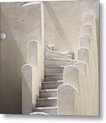 Stairs In Greece Metal Print