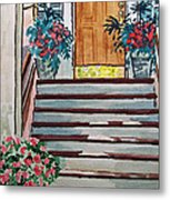 Stairs Sketchbook Project Down My Street Metal Print