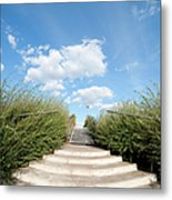 Stairs To The Big Blue Sky Metal Print