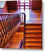 Stairway In Old Naval Hospital Metal Print by Steven Ainsworth