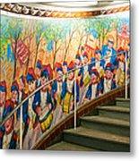Stairway Mural At Montmartre Metro Exit Metal Print