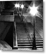Stairway To Montmartre At Night Metal Print