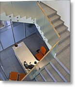 Stairwell In And Office Metal Print by Jaak Nilson