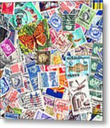 Stamp Collection . 2 To 1 Proportion Metal Print