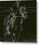 Stand Out Glowing Duo Metal Print