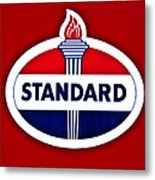 Standard Oil Sign Metal Print
