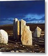 Standing Stones, Blacksod Point, Co Metal Print
